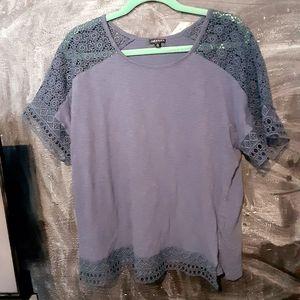 Navy lace blouse size XL